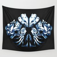 crown Wall Tapestries featuring Crown by András Récze