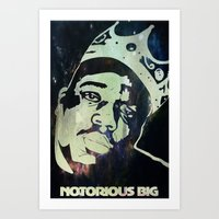 biggie smalls Art Prints featuring Biggie Smalls by Taylor Burleson