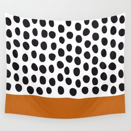 Classy Handpainted Polka Dots with Autumn Maple Wall Tapestry