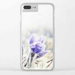 Purple Rain Clear iPhone Case