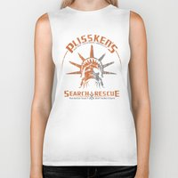discount Biker Tanks featuring Snake Plissken's Search & Rescue Pty. Ltd. by 6amcrisis
