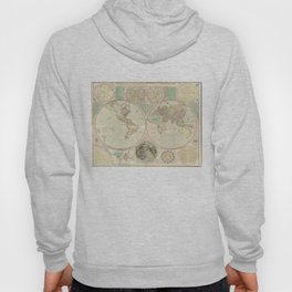 Vintage Map of The World (1780) 2 Hoody