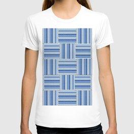 Blue check waves T-shirt