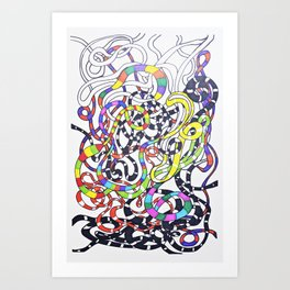 Lines drawing Art Print