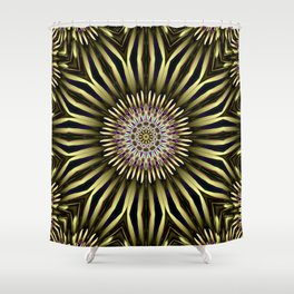 Hypnotic flower Shower Curtain