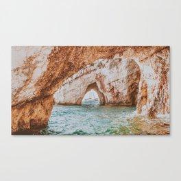 Blue Cave Canvas Print