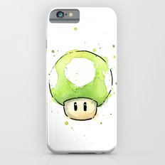 1UP Green Mushroom Painting Mario Gaming Geek Videogame Art Slim Case iPhone 6