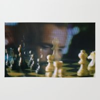 chess Area & Throw Rugs featuring CHESS by Sebastián Nieto