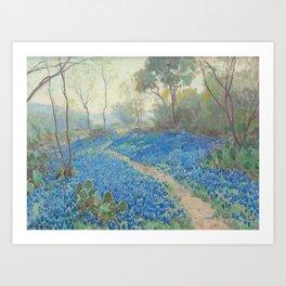 A Hillside of Blue Bonnets - Early Morning, Near San Antonio Texas, 1916 JULIAN ONDERDONK Art Print