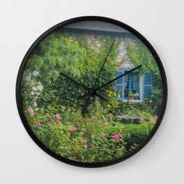 Monet's Gardens Giverny France Wall Clock