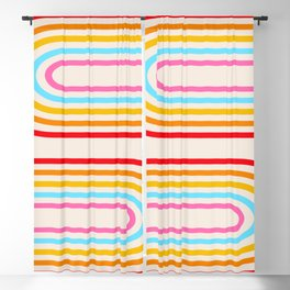 Retro Rainbow Arches Blackout Curtain
