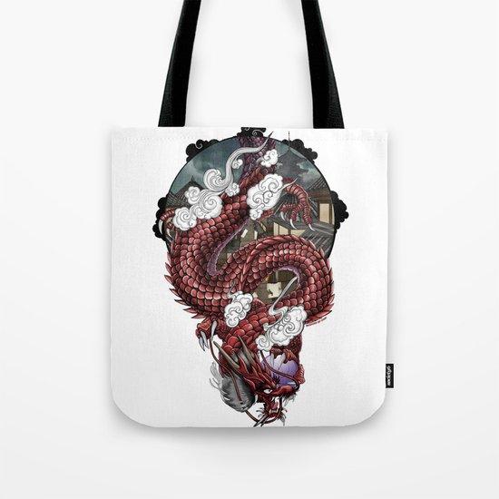 Japanese Dragon 竜 Tote Bag