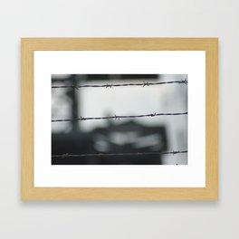 keepout Framed Art Print