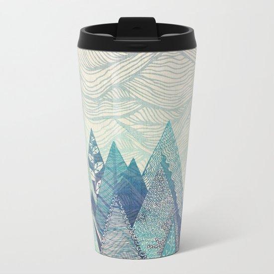 Mountain Crash Metal Travel Mug