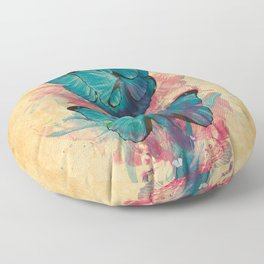 Butterfly Rose Floor Pillow