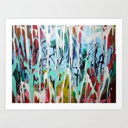 Paint Drip Art Print