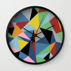 Ab Repeat Black Wall Clock