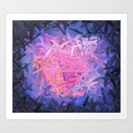 Pinkish Swipes Art Print