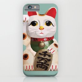 Maneki Neko (Fortune Cat) Polygon Art iPhone Case