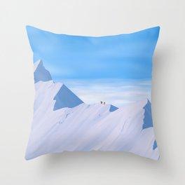 The Highest Mountain Throw Pillow