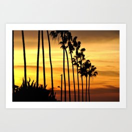 CALIFORNIA SUNSET Art Print