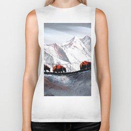 Herd Of Mountain Yaks Himalaya Biker Tank