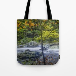 Rocky Broad River in October Tote Bag