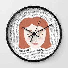 Dana Scully - XF Quotes Wall Clock