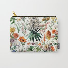 Adolphe Millot - Fleurs B - French vintage poster Carry-All Pouch