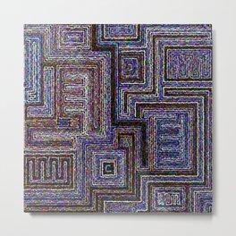 Etno circle pattern Metal Print