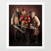 studio killers Art Prints featuring lady killers by CE Photogenetix