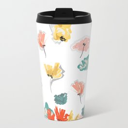 Wild Beauty Saffron Metal Travel Mug