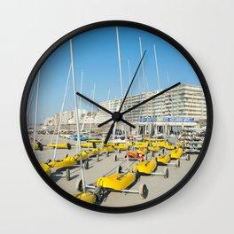 Sand yachting land yachting Wall Clock