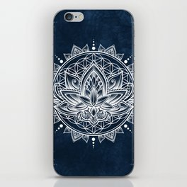 Lotus Mandala (white) iPhone Skin
