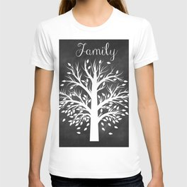 Family Tree Black and White T-shirt