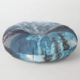 Moraine Lake Canada mountains forest Banff National Park Alberta Floor Pillow