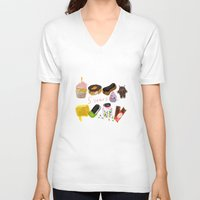 android V-neck T-shirts featuring android  by leonov andrew