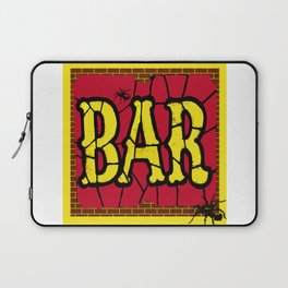 BAR AND SPIDERS VINTAGE SIGN Laptop Sleeve