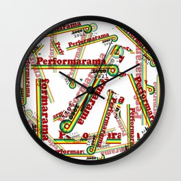 Perform-A-rama Logo Collage Wall Clock