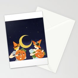 Vintage Halloween Costume Party Pumpkin Carving Stationery Cards