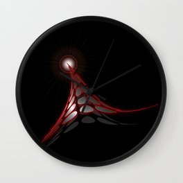 Abstract flux from flare - Vector Wall Clock