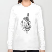 castle in the sky Long Sleeve T-shirts featuring Castle in the sky by Mary Koliva