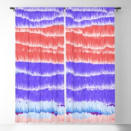Red Blue and White Blackout Curtain