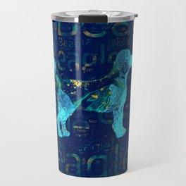 Decorative Beagle  dog Travel Mug