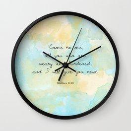 Matthew 11:28 Wall Clock