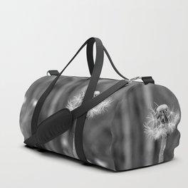 Black and white dandelion Duffle Bag