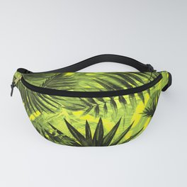 Tropical Leaves Aloha Jungle Garden Fanny Pack