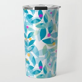 Blue Leaves and Berries Travel Mug