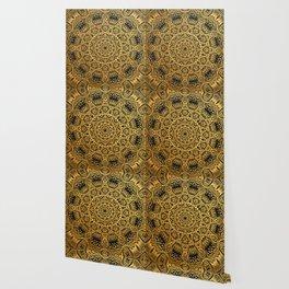 Mandala Black and Gold Art Pattern Wallpaper