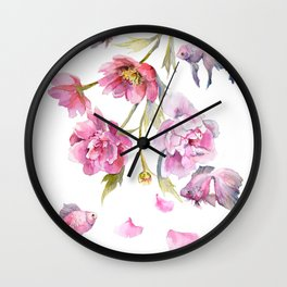 Peony Fish Success Story Wall Clock